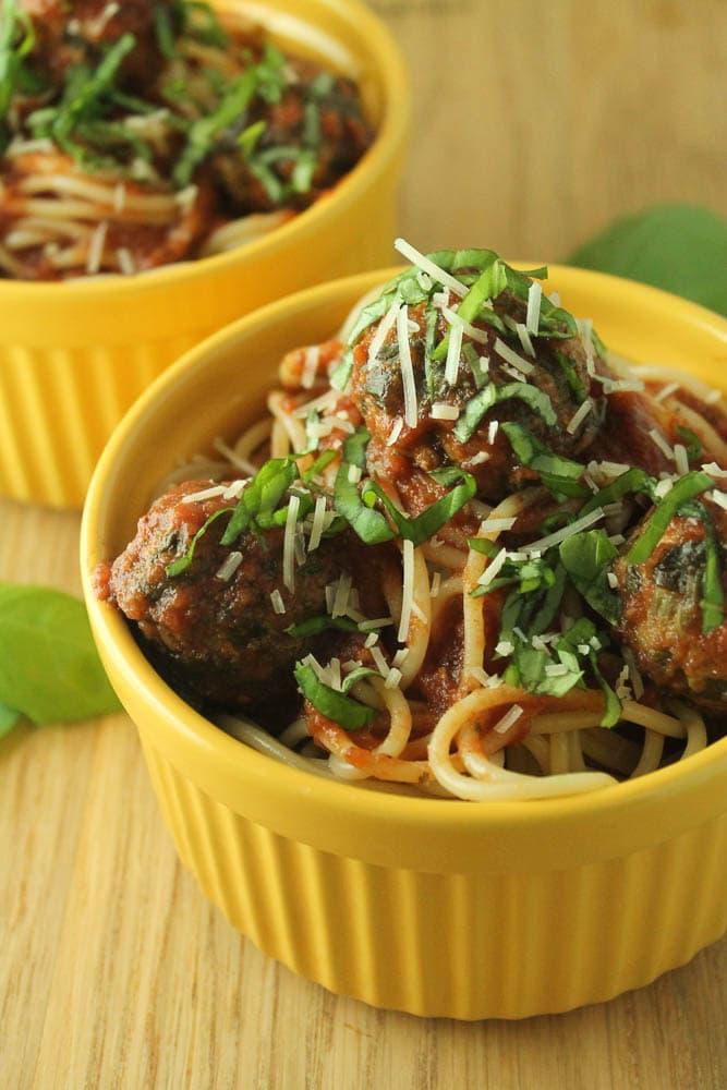 Turkey & Spinach Meatballs in Marinara