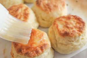 Step by step directions for making fool-proof light, flaky, buttery buttermilk biscuits from scratch.
