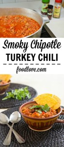 This warm, spicy and satisfying turkey chili is high in protein, low in fat, and packed full of yummy veggies.