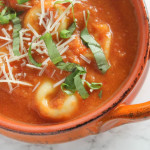 One Pot Tortellini and Tomato Soup - comforting and hearty, but still quick and easy; a perfect weeknight dinner for cold winter nights.