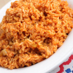 Spanish Rice in a Plate