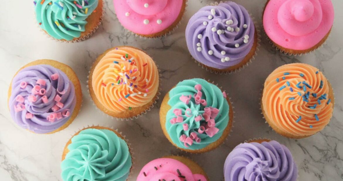 Bakery Style Cupcakes Made From Boxed Cake Mix