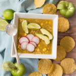 Easy Green Posole is a hearty but fresh-tasting soup flavored with green chiles and tomatillos.