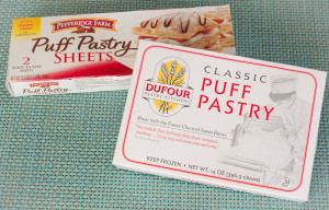 Frozen puff pastry dough