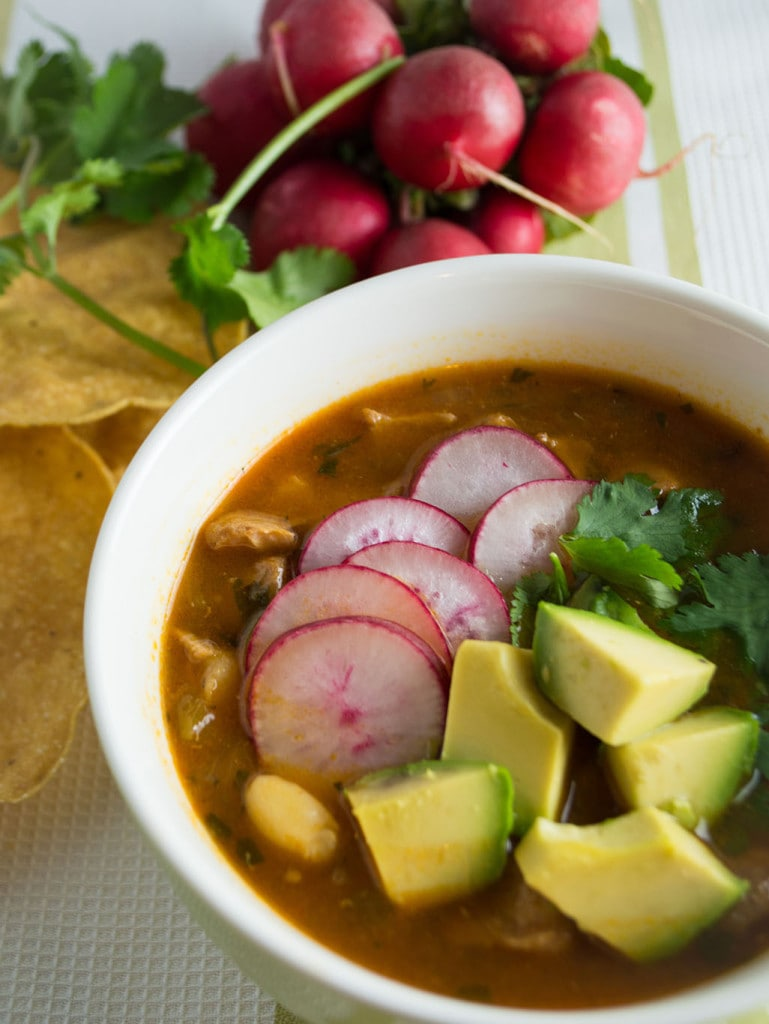 This easy red posole is a simple version of the Mexican classic that can be made in the pressure cooker or slow cooker.