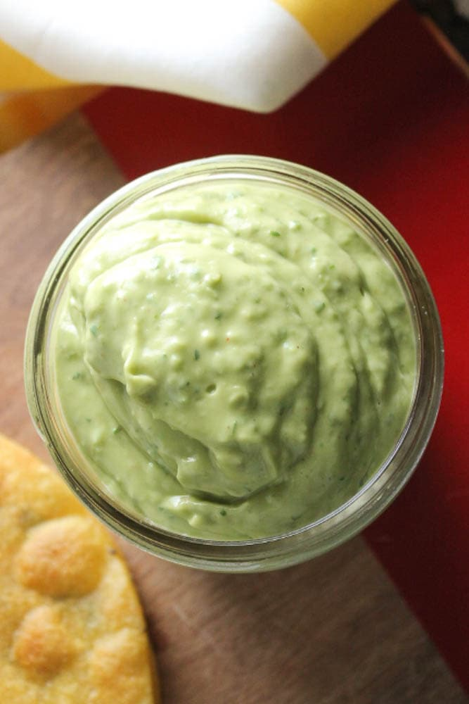 Avocado Lime Sauce in a Jar