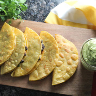 Black Bean Taco and Avocado Lime Sauce