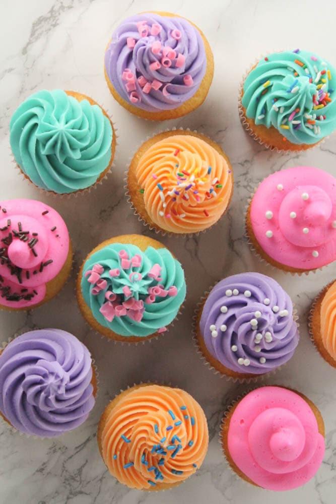 cupcakes overhead