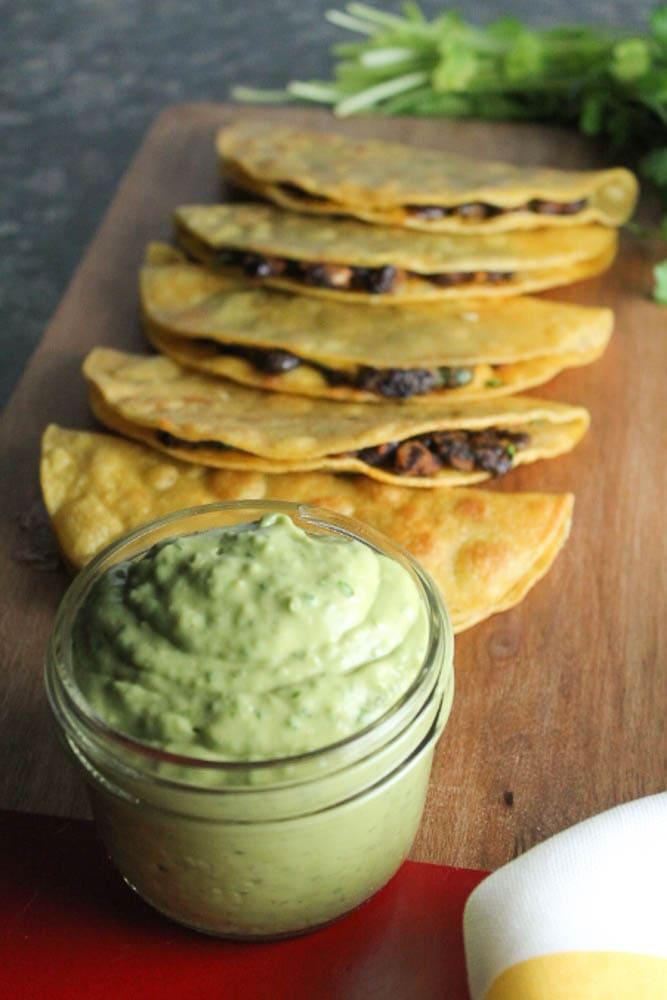 Black Bean Tacos with Avocado Lime Sauce