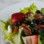 Berry Spinach Salad with Feta and Spiced Pecans