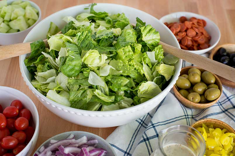 Chopped Antipasti Salad in a Bowl