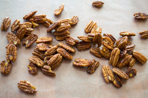 Sugar & spice pecans add a sweet, savory and spicy crunch to salads, or you can eat them alone as a snack.