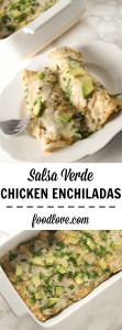 These chicken enchiladas are so quick, easy, and delicious. The recipe only calls for 5 main ingredients and your whole family will love them.