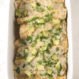 salsa verde chicken enchiladas 1