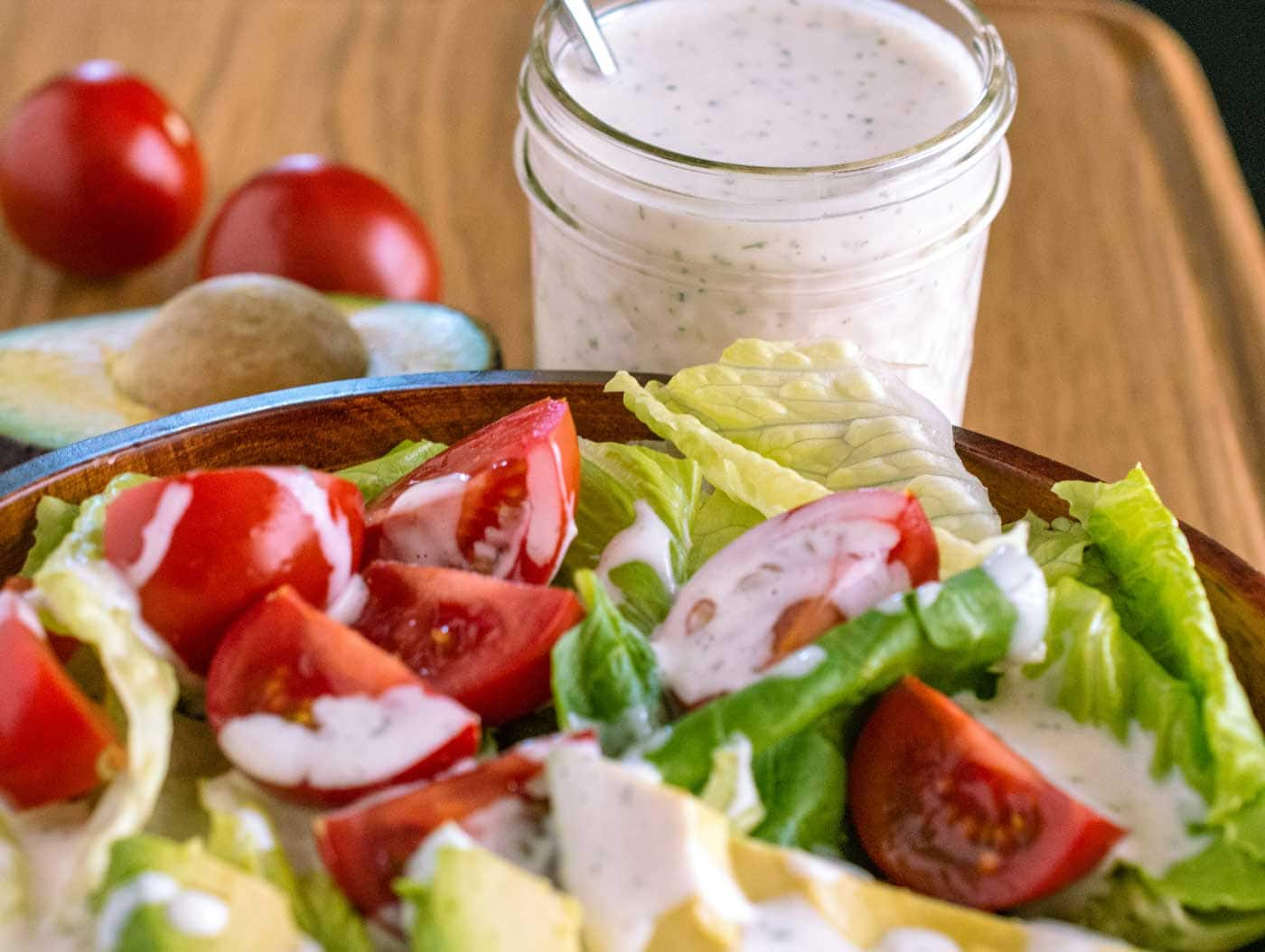 Homemade ranch dressing and seasoning mix for Easy ranch
