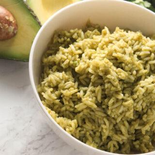 avocado green rice 5
