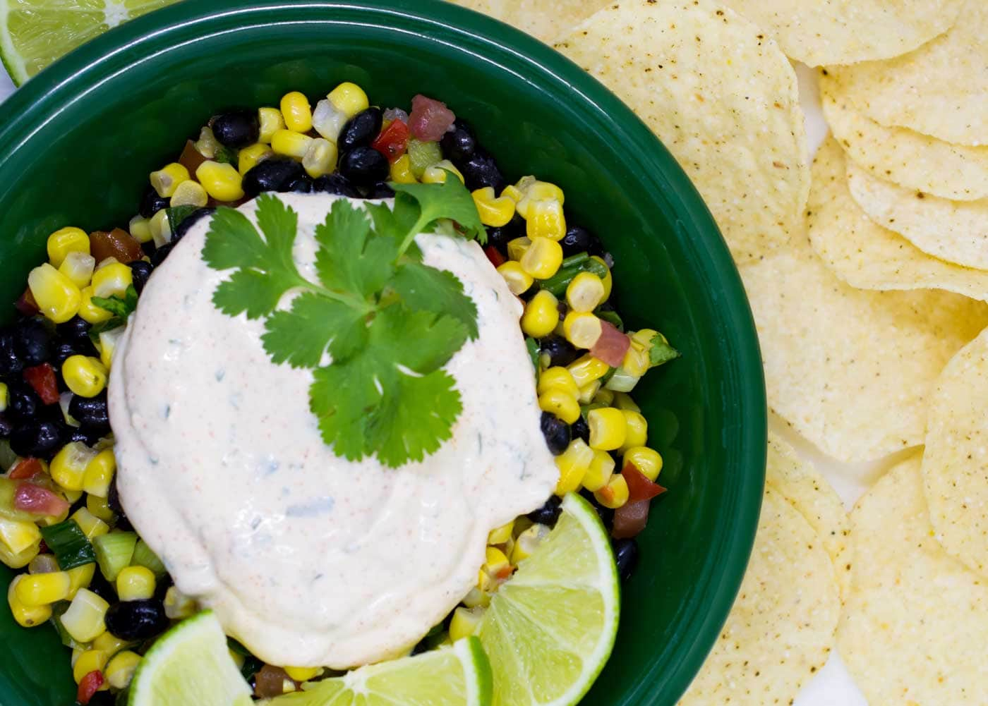 Chipotle Lime Crema in a Plate