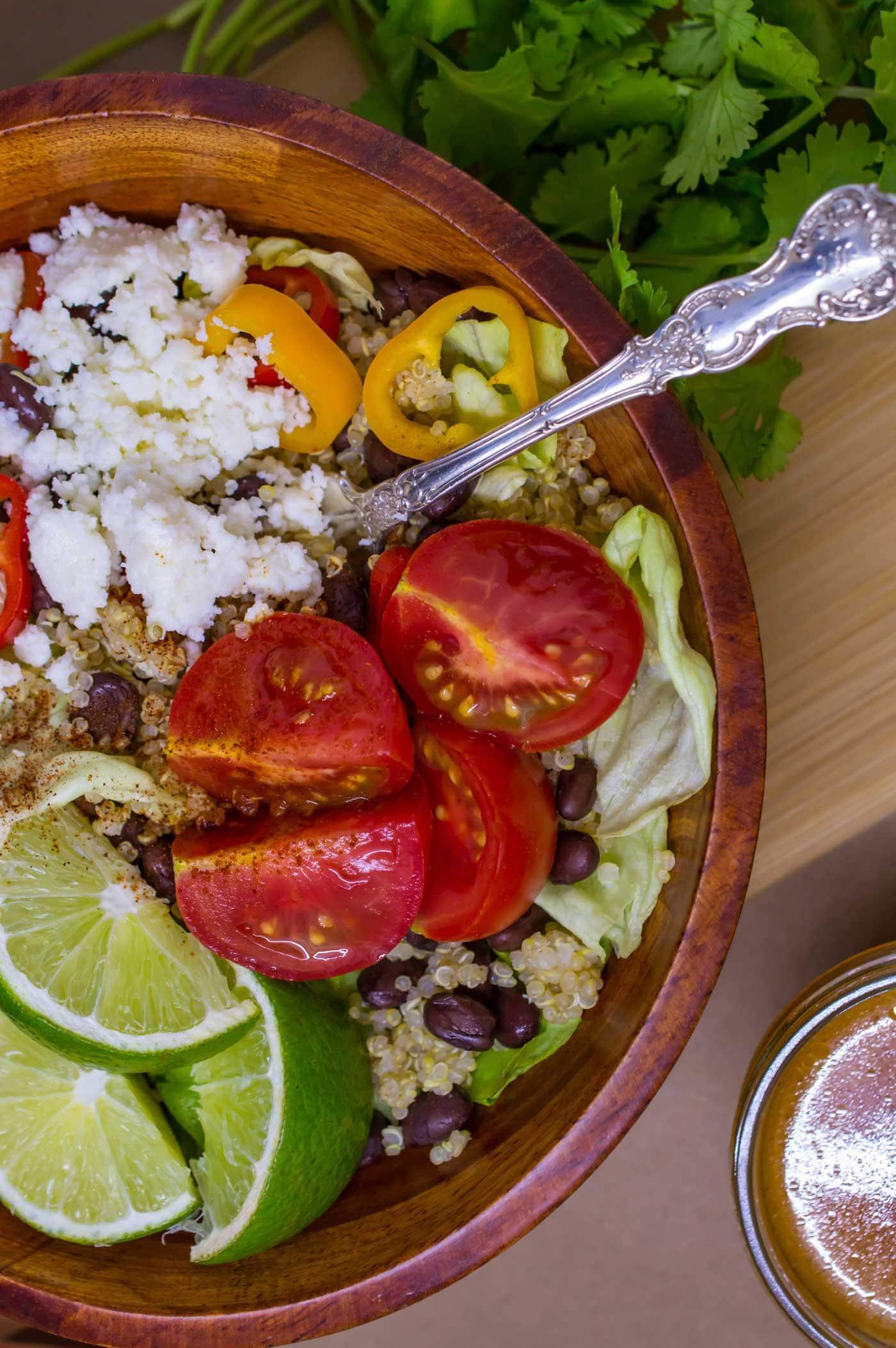 Quinoa and Black Beans Salad