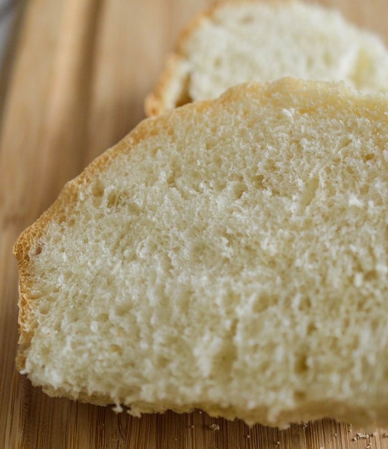Easy artisan Spanish bread is a soft, fine-textured bread with a substantial crust.