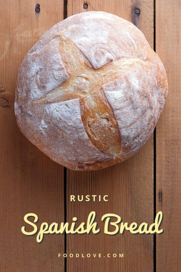 This simple, rustic white bread has a fine, soft texture and a substantial crust. It's made with a touch of extra virgin olive oil. An authentic recipe direct from Barcelona. #bread #homemadebread #artisanbread #baking #spanishbread #rusticbread #foodlove