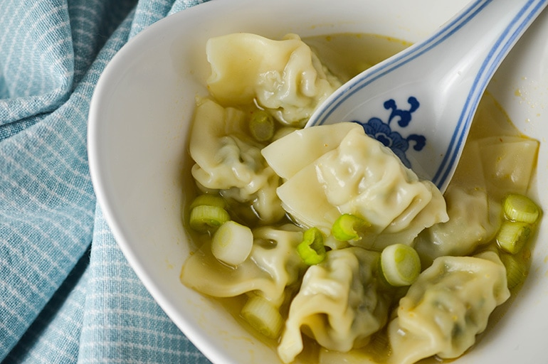 Make this light, satisfying 10-minute wonton soup in less time than it takes to get through the line at the drive-through.