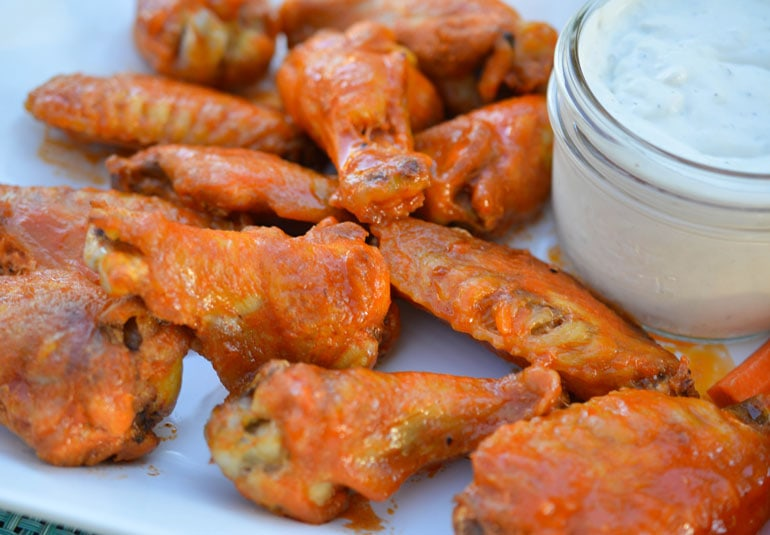 Dive into these amazing Baked Buffalo Wings - perfect for Game Day or for an easy weeknight dinner!