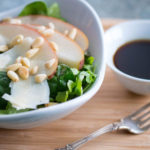 Italian Salad with Pears, Shaved Parmesan, and Honey-Balsamic Vinaigrette