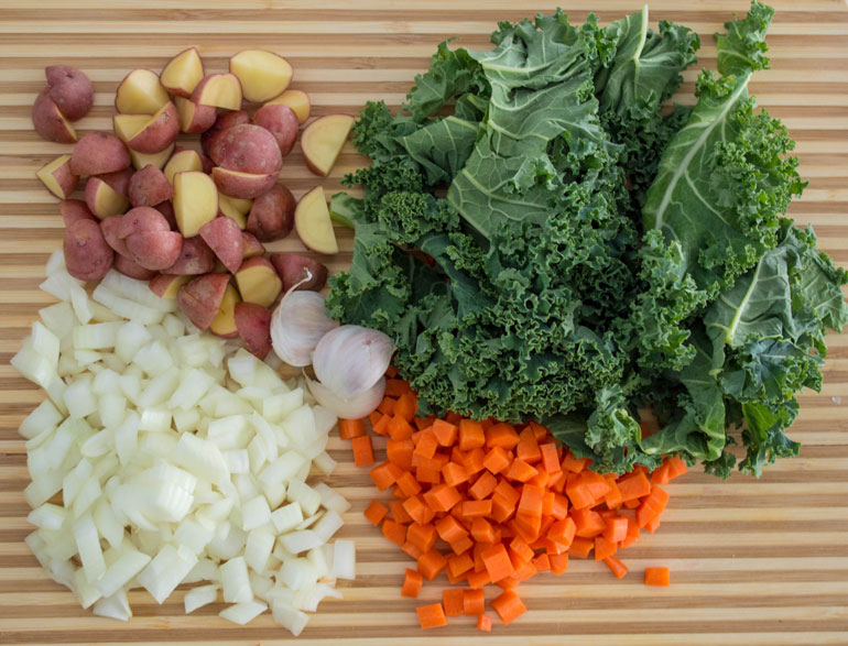 minestrone in a pot ingredients
