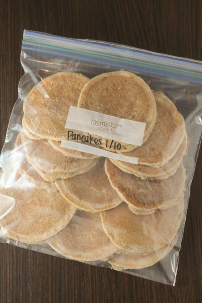 How to make homemade freezer pancakes for a quick and easy weekday breakfast.