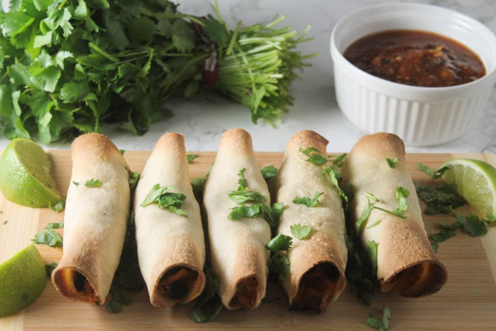 These taquitos are quick and simple. Only 5 ingredients and dinner is ready!