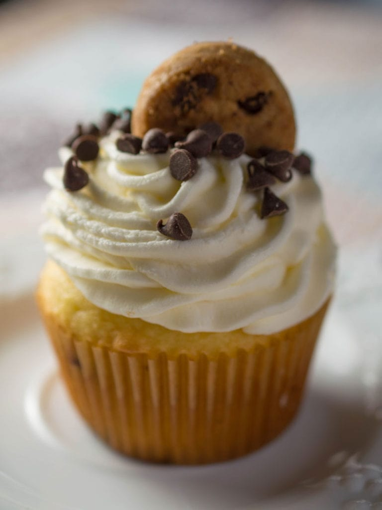 It's hard to believe these delectable chocolate chip cupcakes come from a boxed cake mix!