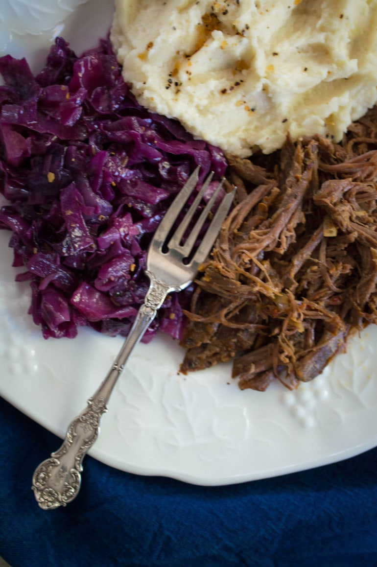 Juicy, perfect pot roast is a no-brainer with seasoned tri-tip from Costco.
