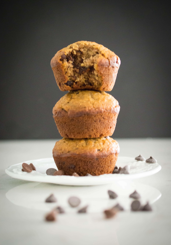 Perfect Weekend Chocolate Chip Banana Muffins | FoodLove.com