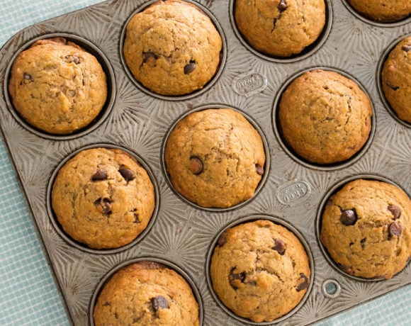 Perfect Weekend Chocolate Chip Banana Muffins