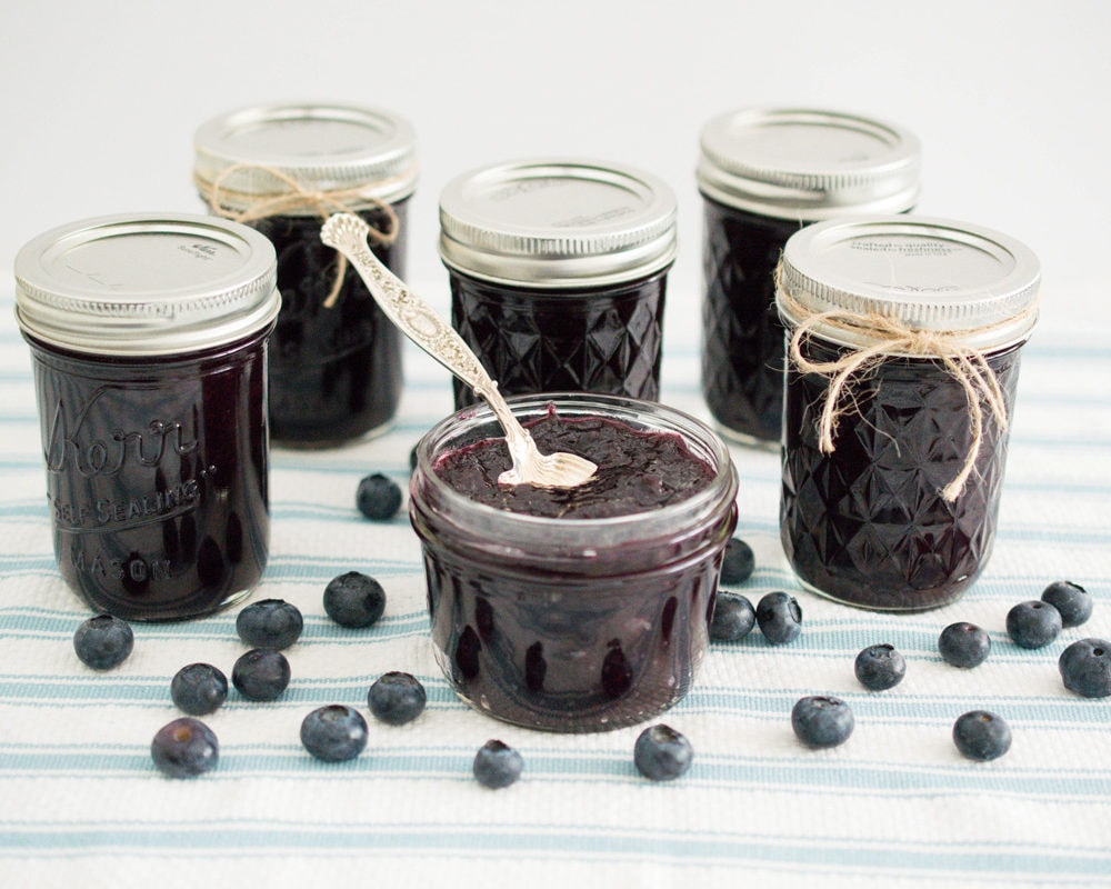 Low Sugar Blueberry Jam