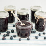 homemade low sugar blueberry jam