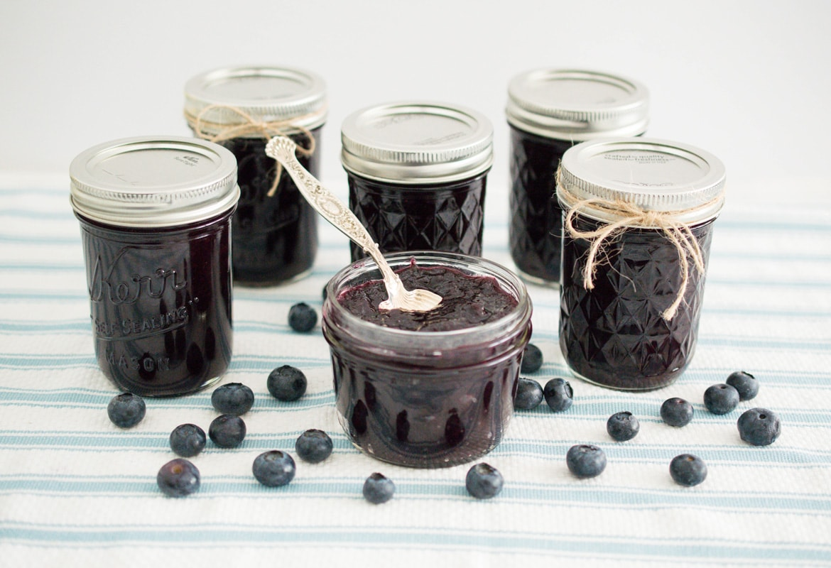 Low Sugar Blueberry Jam