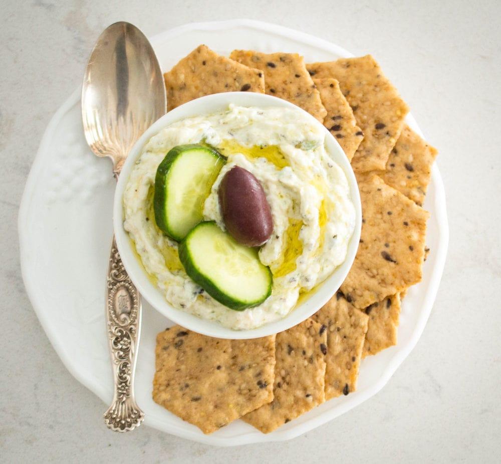 Authentic Greek Tzatziki Sauce (Yogurt and Cucumber Sauce)