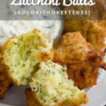 Greek Zucchini Balls Pinterest