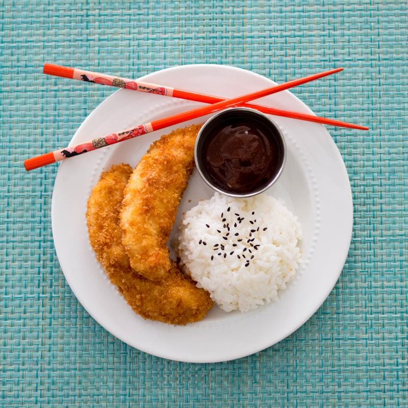 Katsu chicken is a simple panko crusted fried chicken that kids love, and adults love it too!
