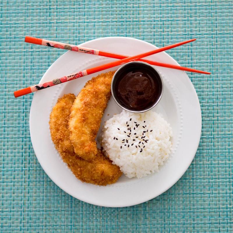 Chicken Katsu (Torikatsu) with Japanese Barbecue Sauce (Tonkatsu Sauce)