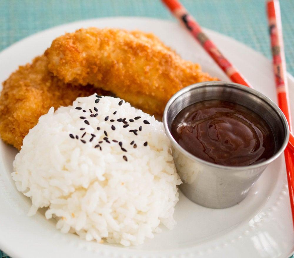 Katsu Chicken (Tori Katsu) with Japanese Barbecue Sauce (Tonkatsu Sauce)