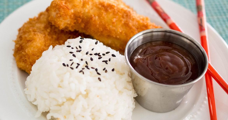 Chicken Katsu (Torikatsu) in a plate