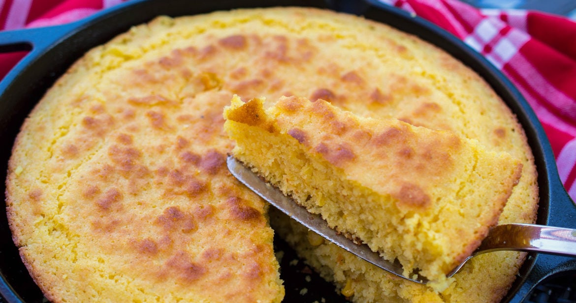 This cast iron skillet cornbread recipe really is the best ever! It's moist, tender, and sweet but not too sweet - a recipe you'll want to make again and again!