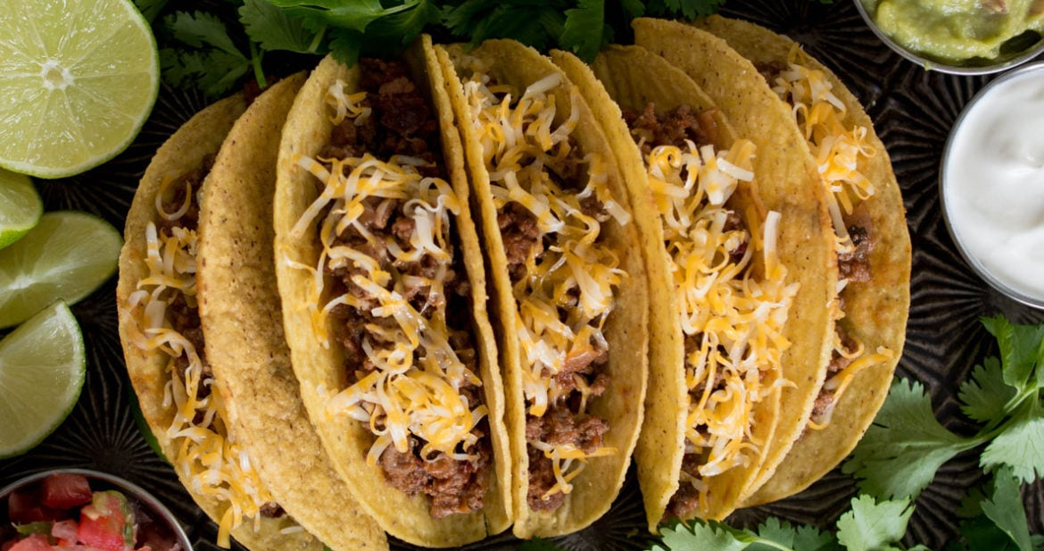Crunchy, crave-worthy ground beef tacos are even better made from scratch! Ditch the pre-made packets and try this easy, fresh recipe.