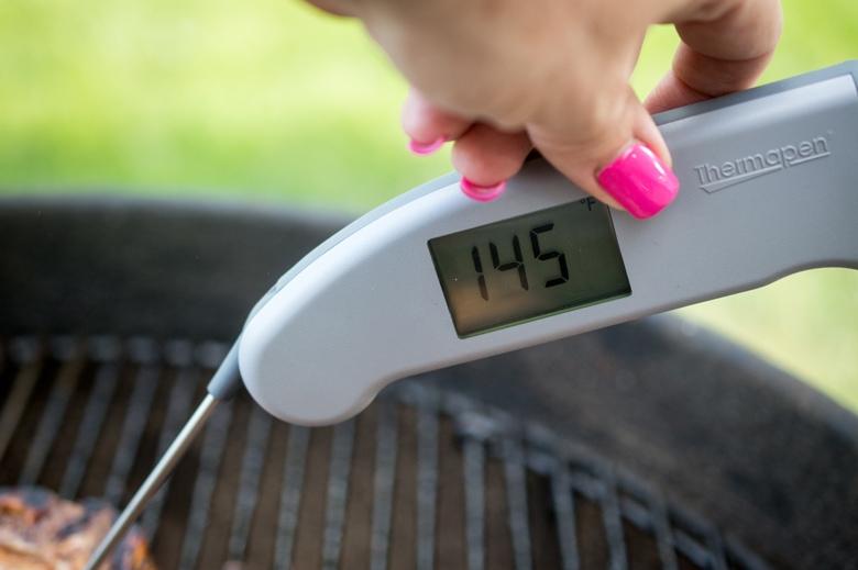 Greek Grilled Pork Chops temperature
