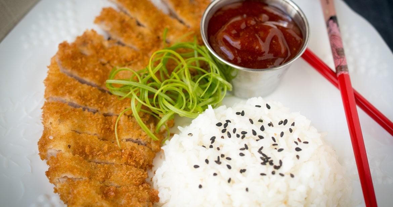 panko crusted Japanese pork cutlet, katsu pork or tonkatsu