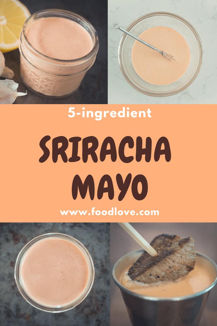 Sriracha mayo dipping sauce