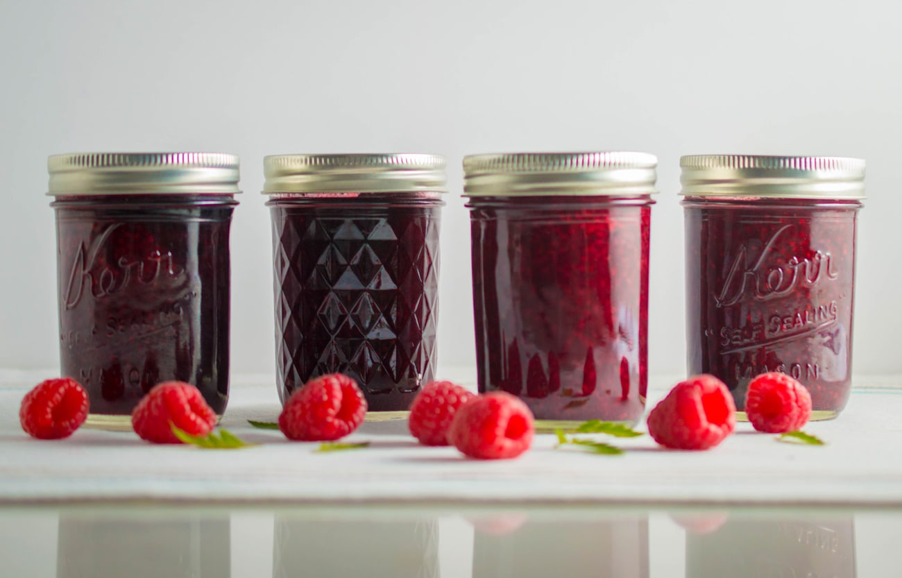 Low Sugar Raspberry Jam
