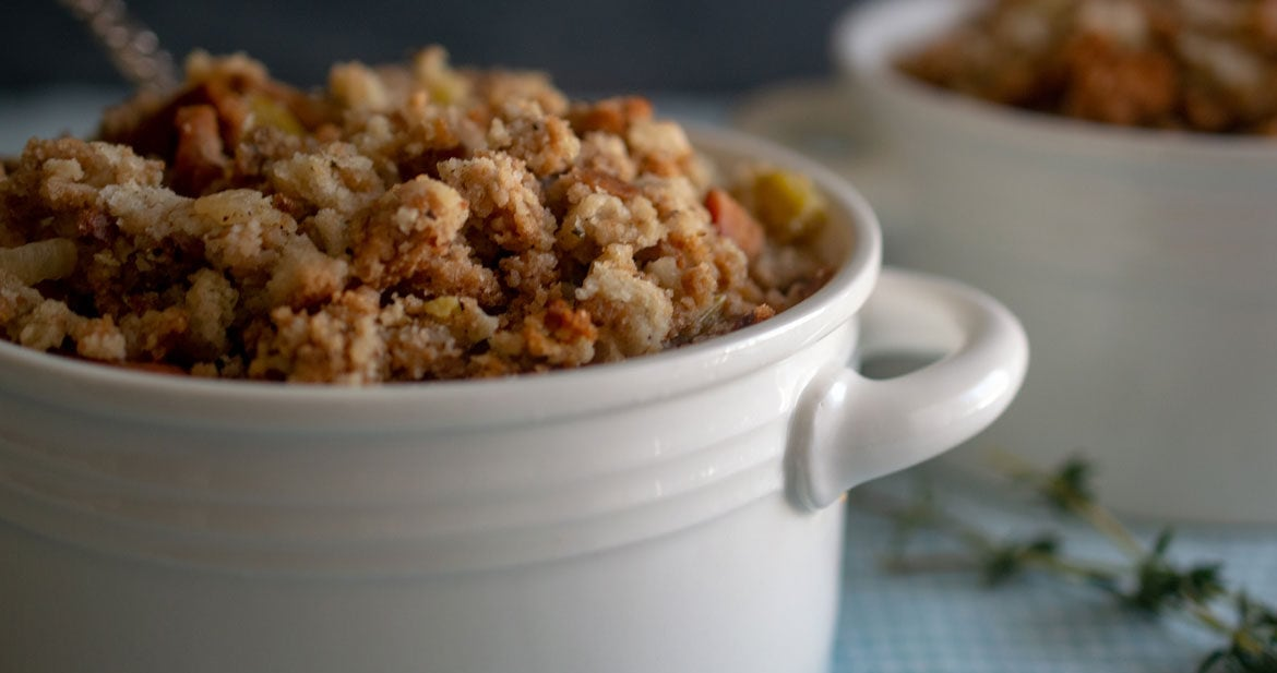 Thanksgiving stuffing with bacon